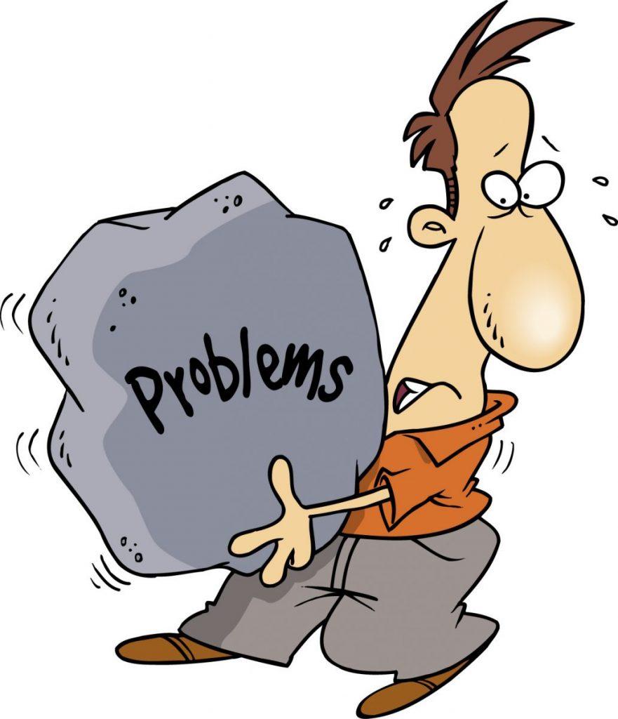 Мужчина несет свои проблемы